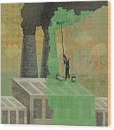 Greenwashing Wood Print