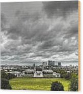 Greenwich And Docklands Hdr Wood Print