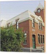 Greenwood Post Office Wood Print