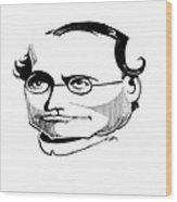 Gregor Mendel, Caricature Wood Print by Gary Brown