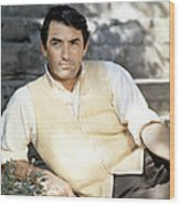 Gregory Peck, Ca. Late 1950s Wood Print