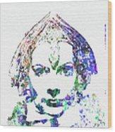 Greta Garbo Wood Print by Naxart Studio