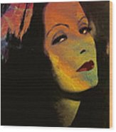 Greta Garbo Pop Art Wood Print