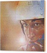 Gretzky Wood Print by Gary McLaughlin