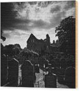 Greyabbey Abbey And Graveyard Cemetary County Down Ireland Wood Print
