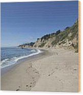 Greyhound Rock State Beach Panorama - Santa Cruz - California Wood Print by Brendan Reals