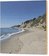 Greyhound Rock State Beach Panorama - Santa Cruz - California Wood Print
