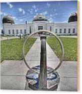 Griffith Observatory 1 Wood Print