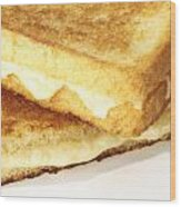 Grilled Cheese Sandwich Wood Print