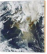 Grimsvotn Ash Plume, May 2011 Wood Print