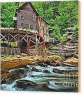 Grist Mill At Babcock Wood Print