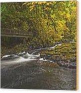 Grist Mill Creek Wood Print