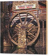 Grist Mill In The Smokies Wood Print