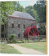 Grist Mill  Massachusetts Wood Print by Patricia Urato