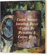 Gritty Chuck Norris 2 Wood Print