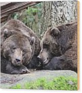 Grizzley - 0002 Wood Print