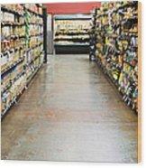 Grocery Store Isle Wood Print