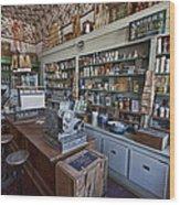 Grocery Store Of Yesteryear - Virginia City Montana Ghost Town Wood Print by Daniel Hagerman