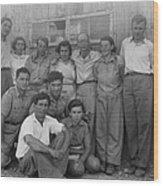 Group Of Jewish Immigrants Harvesting Wood Print