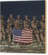 Group Photo Of U.s. Marines Wood Print