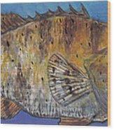 Grouper Wood Print by Edward Walsh