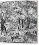 Grouse Hunting, 1855 Wood Print