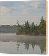 Grousehaven Shoreline Wood Print