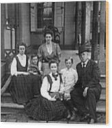Grover Cleveland And His Family, 1907 Wood Print