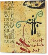 Growing Up Gracefully Wood Print