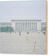 Grteat Hall Of The People In Beijing In China Wood Print