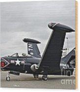 Grumman F9f-5p Panther Wood Print