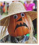 Grumpy Pumpkin Wood Print