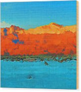 Guadalupe Mountains Sunset Wood Print