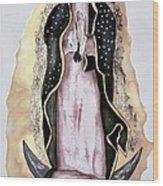 Guadalupe Wood Print by Myrna Migala