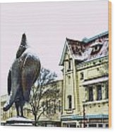Guard Pigeon And Liberty Theater Wood Print