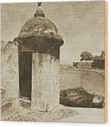 Guard Post Castillo San Felipe Del Morro San Juan Puerto Rico Vintage Wood Print by Shawn O'Brien