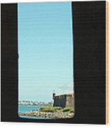 Guard Tower View Castillo San Felipe Del Morro San Juan Puerto Rico Wood Print