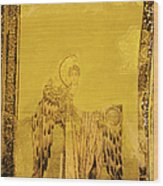 Guardian Angel Byzantine Art Wood Print