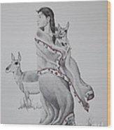 Guardian Of The Herd Wood Print