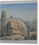 Guardian Rock Wood Print