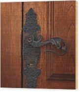 Guatemala Door Decor 5 Wood Print