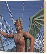 Guatemala Winged Devil Wood Print