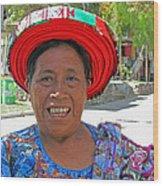 Guatemalan Village Woman Wood Print