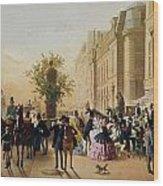 Guerard: Cafe Tortoni, 1856 Wood Print