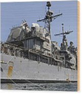 Guided Missile Cruiser Uss Bunker Hill Wood Print