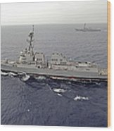 Guided Missile Destroyers Uss Dewey Wood Print