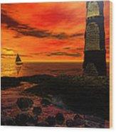 Guiding Light - Lighthouse Art Wood Print