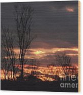 Guilded Sunset Wood Print
