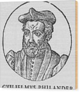 Guillaume Philandrier, French Humanist Wood Print by Middle Temple Library