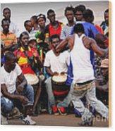Guinean Dancing  Wood Print